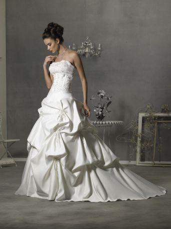 Allure Свадебное платье бальное платье без бретелек рук Аппликация...